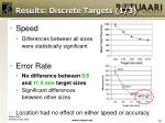 results discrete targets 1 3