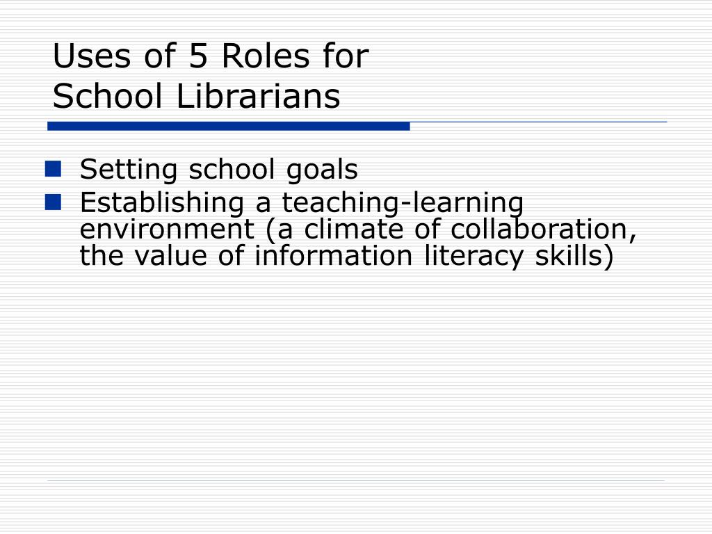 Uses of 5 Roles for