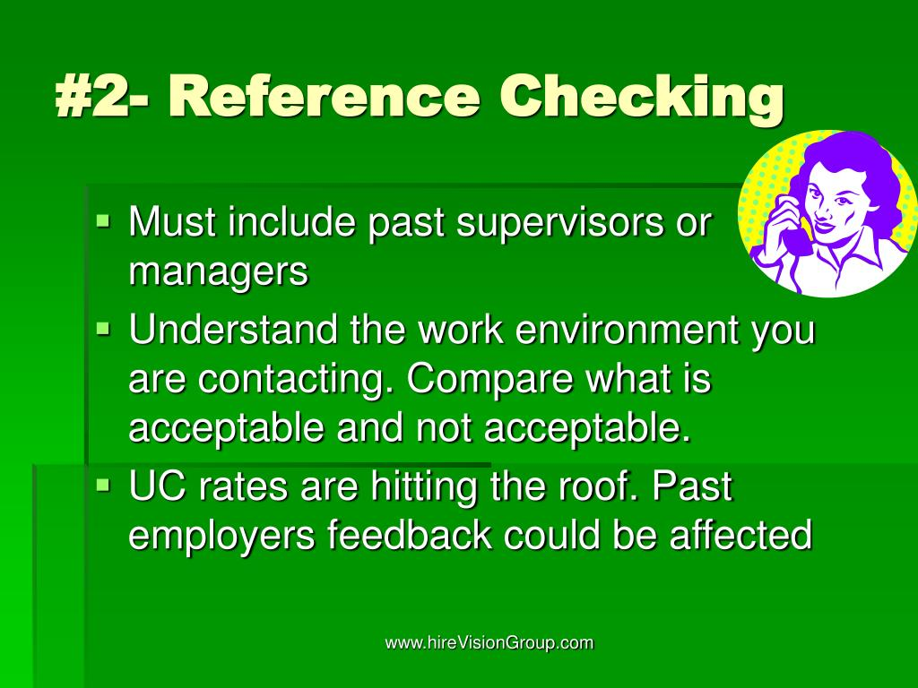 #2- Reference Checking