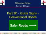 part 2d guide signs conventional roads