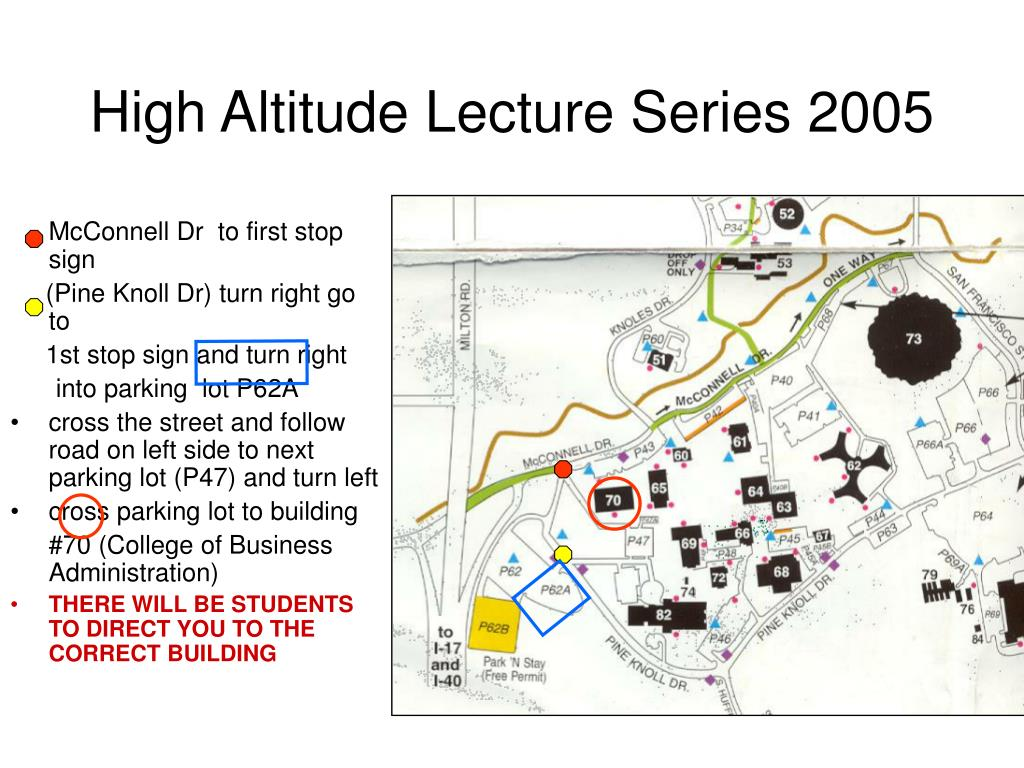 high altitude lecture series 2005 l.