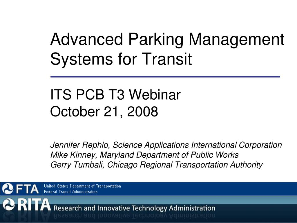 advanced parking management systems for transit l.
