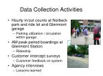 data collection activities