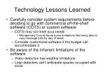 technology lessons learned