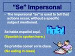 se impersonal