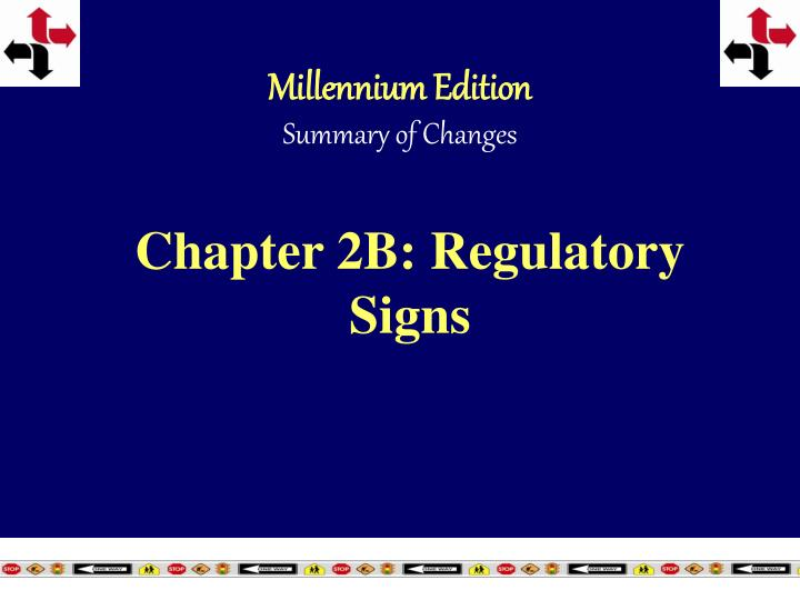 chapter 2b regulatory signs n.