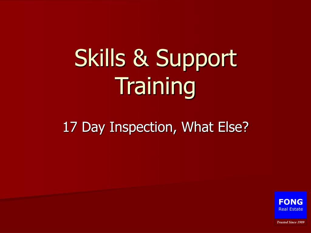 skills support training l.