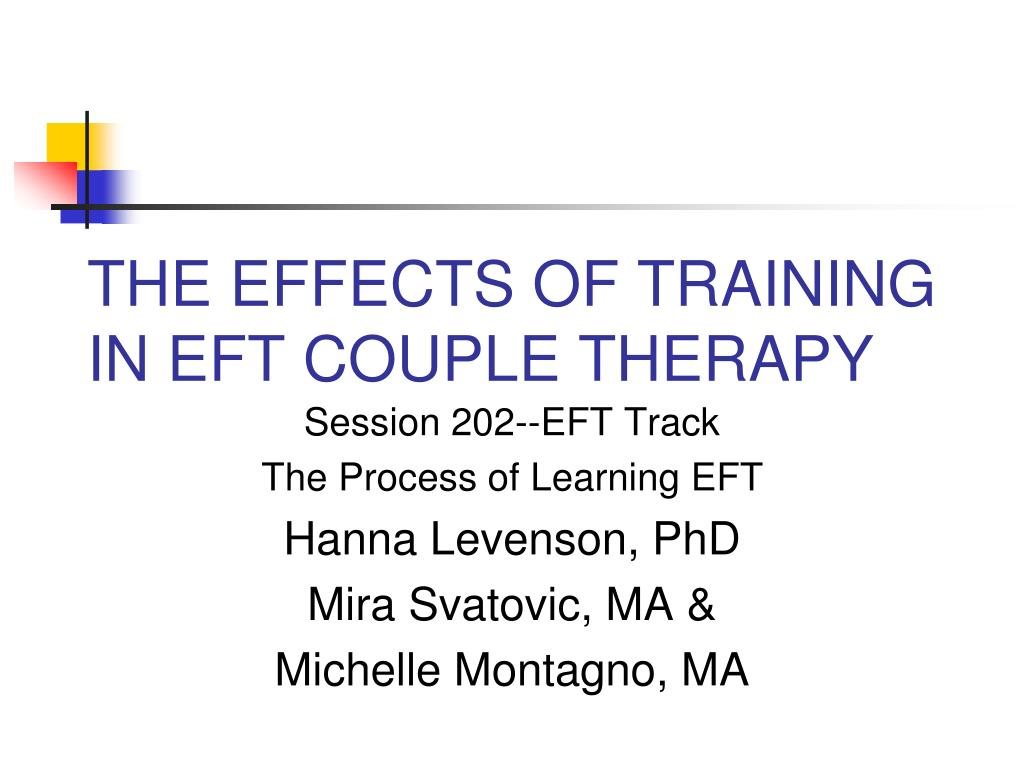 the effects of training in eft couple therapy l.