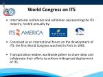 world congress on its