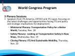 world congress program