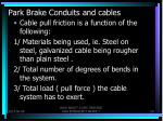 park brake conduits and cables2