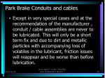 park brake conduits and cables3