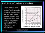 park brake conduits and cables4