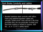park brake conduits and cables5