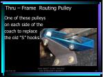 thru frame routing pulley