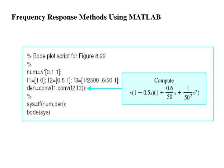 Frequency Response Methods Using MATLAB