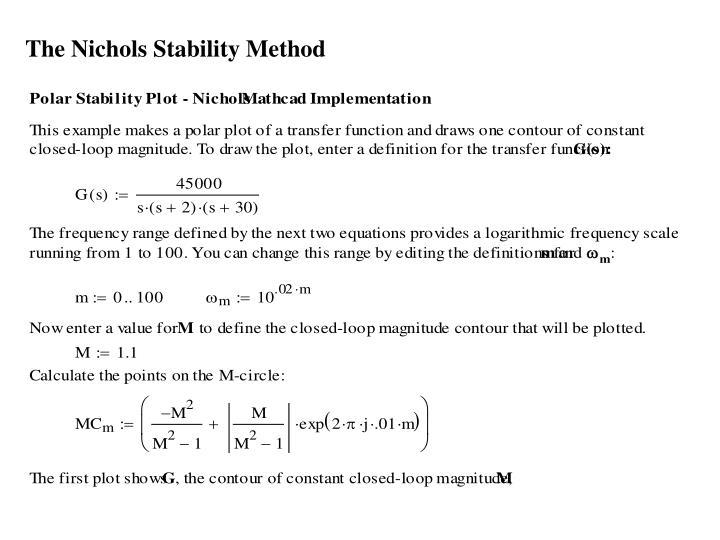 The Nichols Stability Method