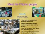 meet the filipino people