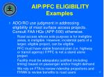 aip pfc eligibility examples