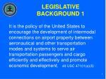 legislative background 1