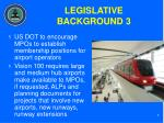 legislative background 3