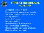 types of intermodal facilities