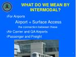 what do we mean by intermodal