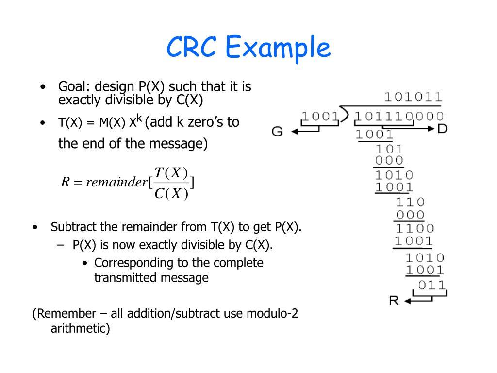 Crc Calculation In C