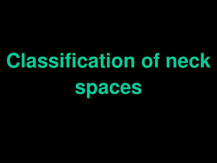 Classification of neck spaces