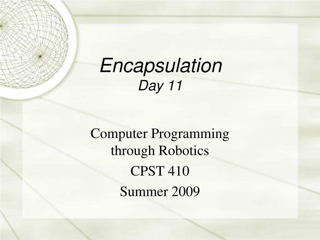 encapsulation day 11 l.