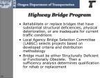 highway bridge program
