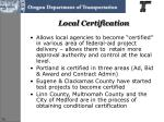 local certification