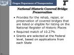 national historic covered bridge preservation