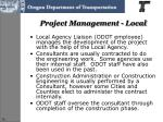 project management local