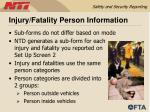injury fatality person information