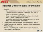 non rail collision event information