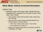 other motor vehicle involved information56