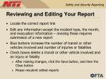 reviewing and editing your report
