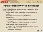 transit vehicle involved information43