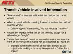 transit vehicle involved information47