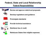 federal state and local relationship federal responsibilities