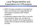 local responsibilities and expectations for lpa projects50