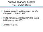 national highway system types of work eligible28