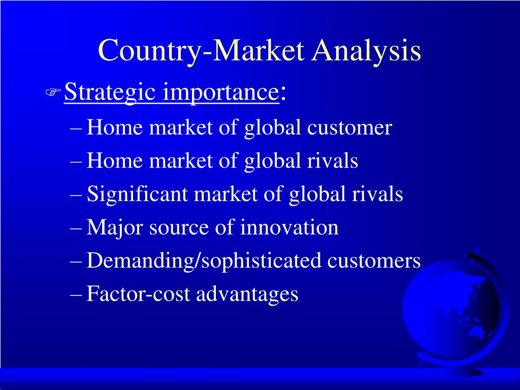 Country-Market Analysis