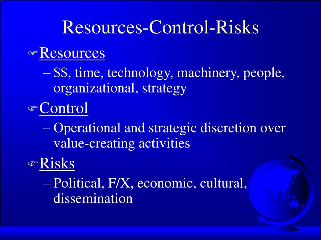 Resources-Control-Risks