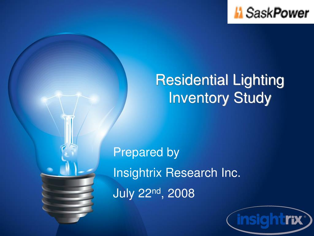 residential lighting inventory study l.