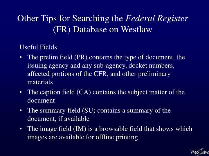 westlaw summary