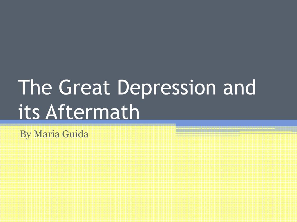 The Great Depression and