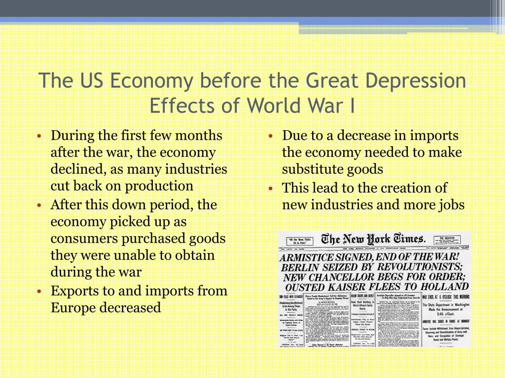The US Economy before the Great Depression