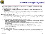 dod in sourcing background